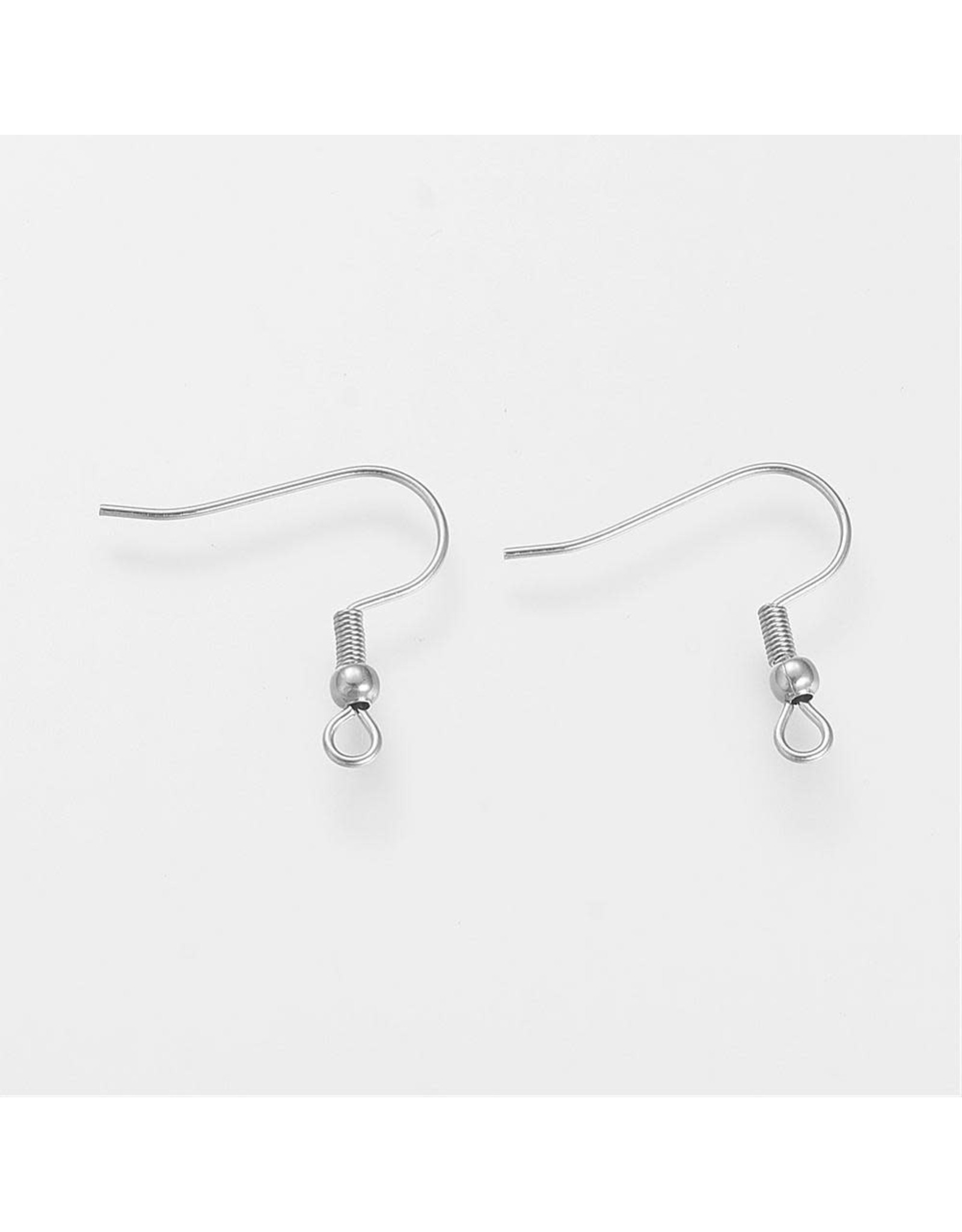 Ear Wire 21x21mm Stainless Steel   x10
