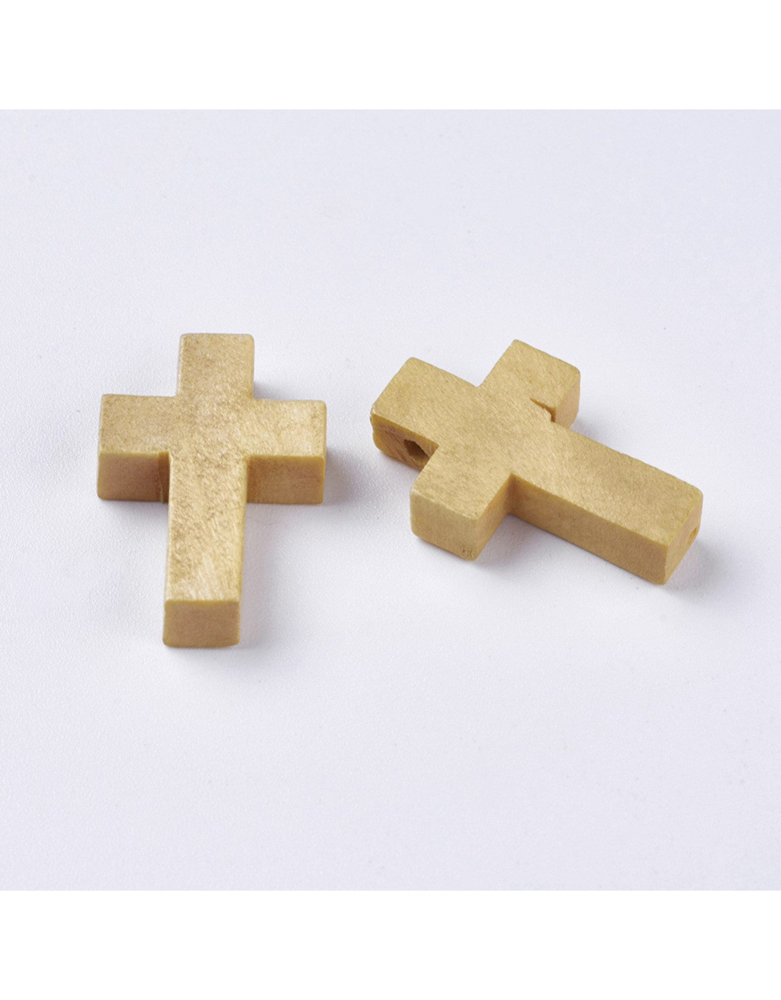 Cross 22x14mm Light Wood  x10