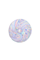 Swirl Round  Resin Cabochon 16x3mm  Clear AB  x10