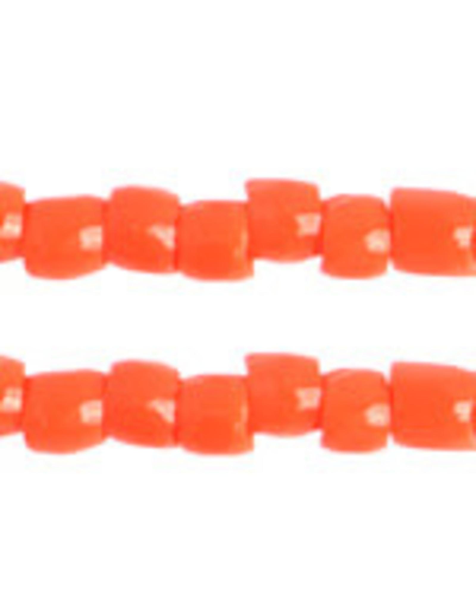 Czech 1743 10/0 3 Cut   Seed Hank 25g Opaque Orange