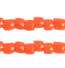 Czech 1743 10/0 3 Cut Czech Seed Hank 25g Opaque Orange
