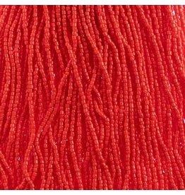 Czech 1740 10/0 3 Cut   Seed Hank 25g Opaque Light Red