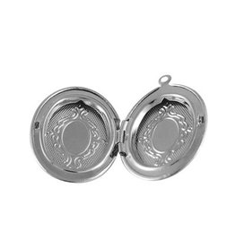 Oval Locket  33x22mm Platinum x5 NF