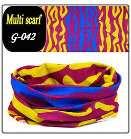 Headband Bandana 24x48cm Blue Purple Yellow Design
