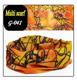 Headband Bandana 24x48cm Orange Yellow with BlackDesign