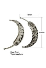 Feather Link (2to7) Antique Silver 89x20mm x5
