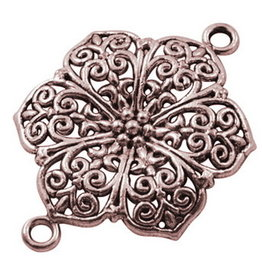 Flower Link (1to1) 41x37mm Antique Copper x5 NF