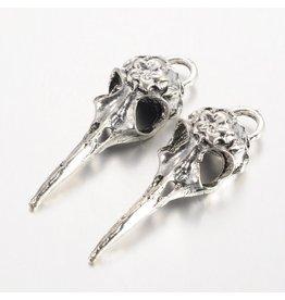 Bird Skull Antique Silver 42x14mm  x5 NF