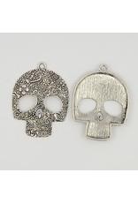 Skull Pendant Antique Silver 50x65mm  x5