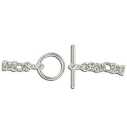 Toggle Clasp 12mm Round with 3mm Crimp Ends Nickel  NF  x10