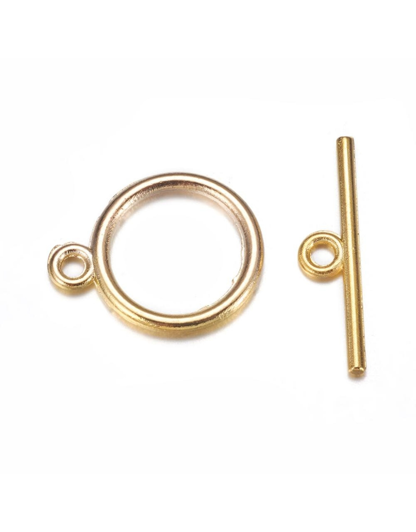 Toggle Clasp Round 15mm Gold  NF  x10