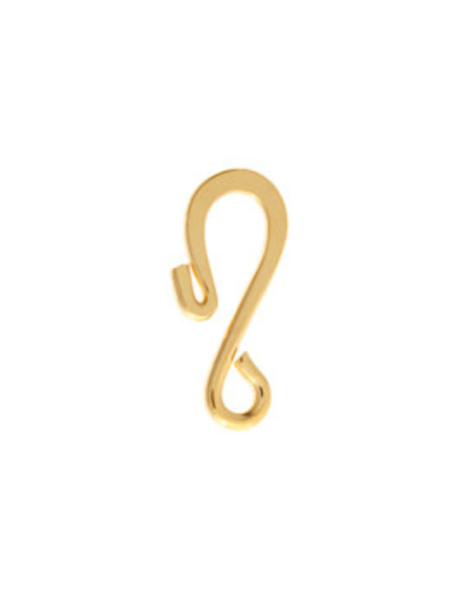 Hook & Eye Clasp  23x6mm Gold  NF  x10