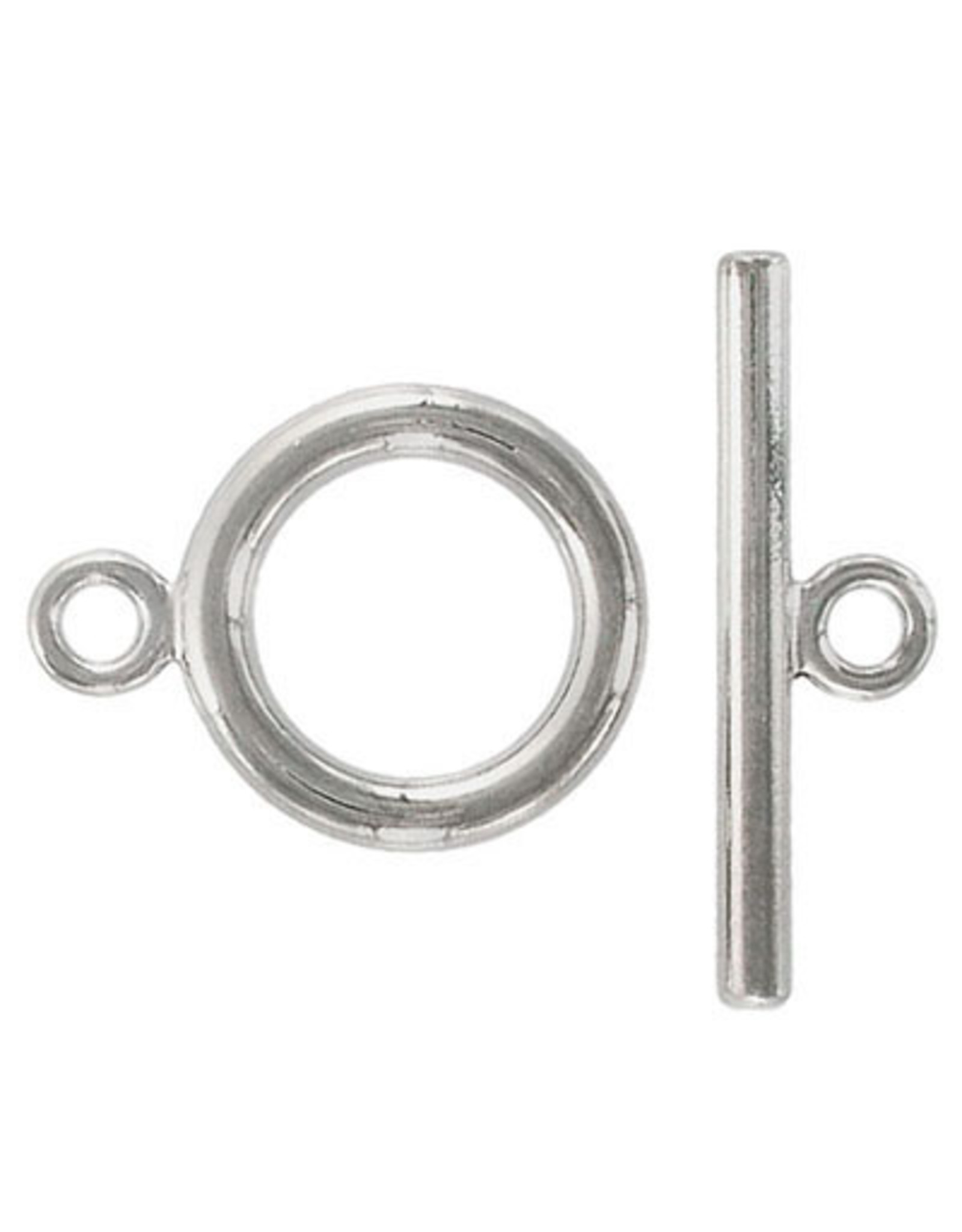 Toggle Clasp Round 25mm Nickel  NF  x6