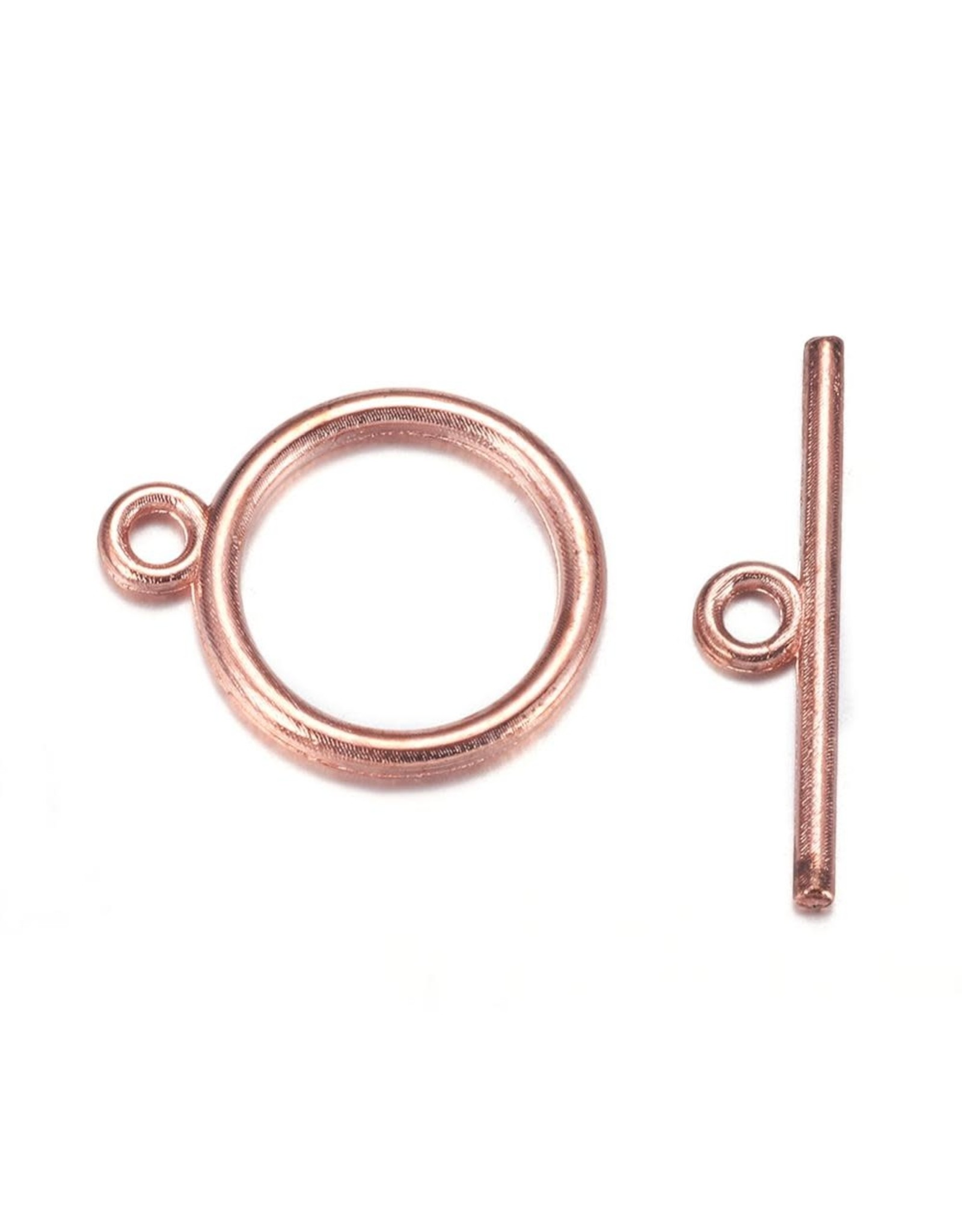 Toggle Clasp Round 15mm Rose Gold  NF  x10