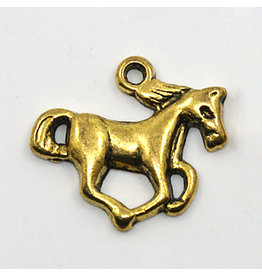 Horse Charm 20x15mm Antique Gold x10