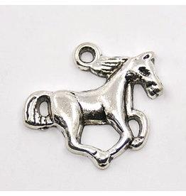 Horse Charm 20x15mm Antique Silver x10