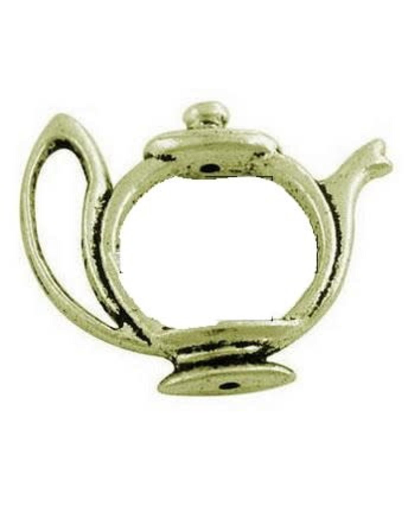 Bead Frame Tea Pot 19mm Antique Brass  NF  x10