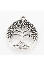 Tree of Life  26mm Antique Silver  NF  x10