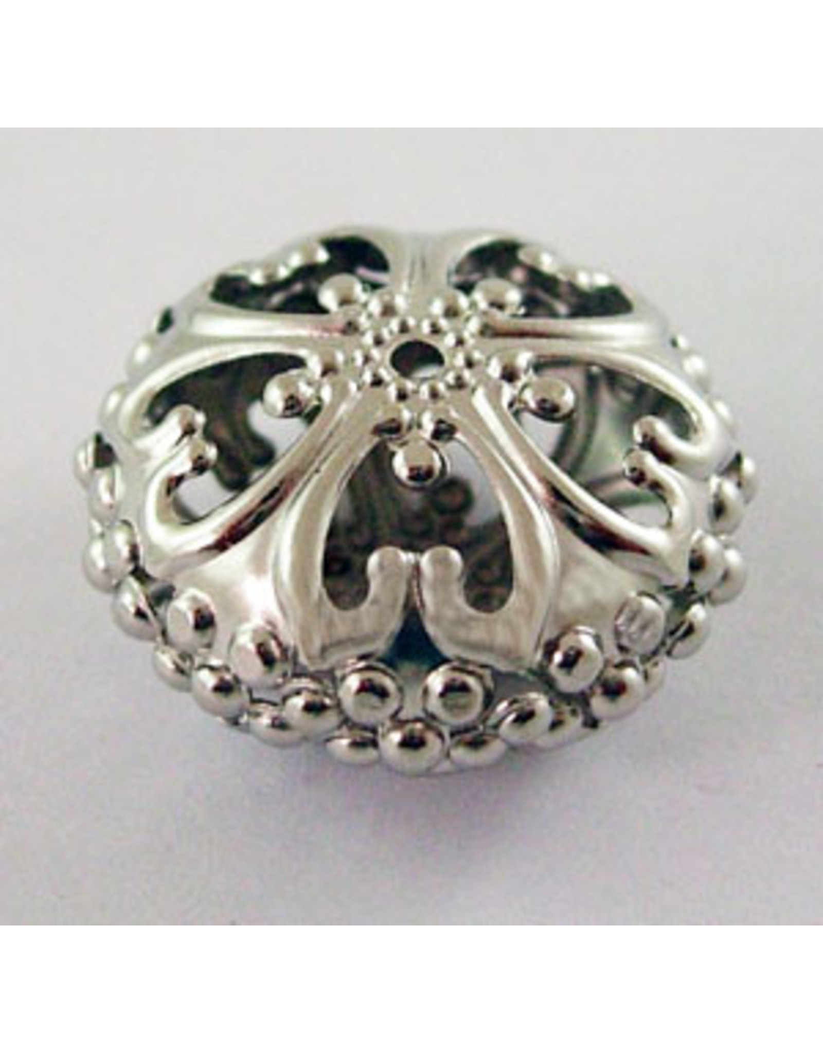 Rondelle Spacer Filigree Platinum 23mm x12.5mm  x5