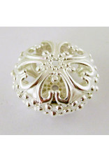 Rondelle Spacer Filigree Silver 23mm x12.5mm  x5