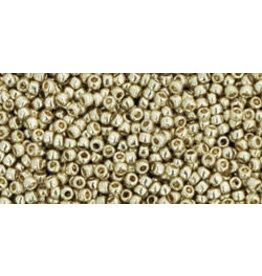 Toho pf558 15 Toho Round 6g Silver Metallic Perma-Finish