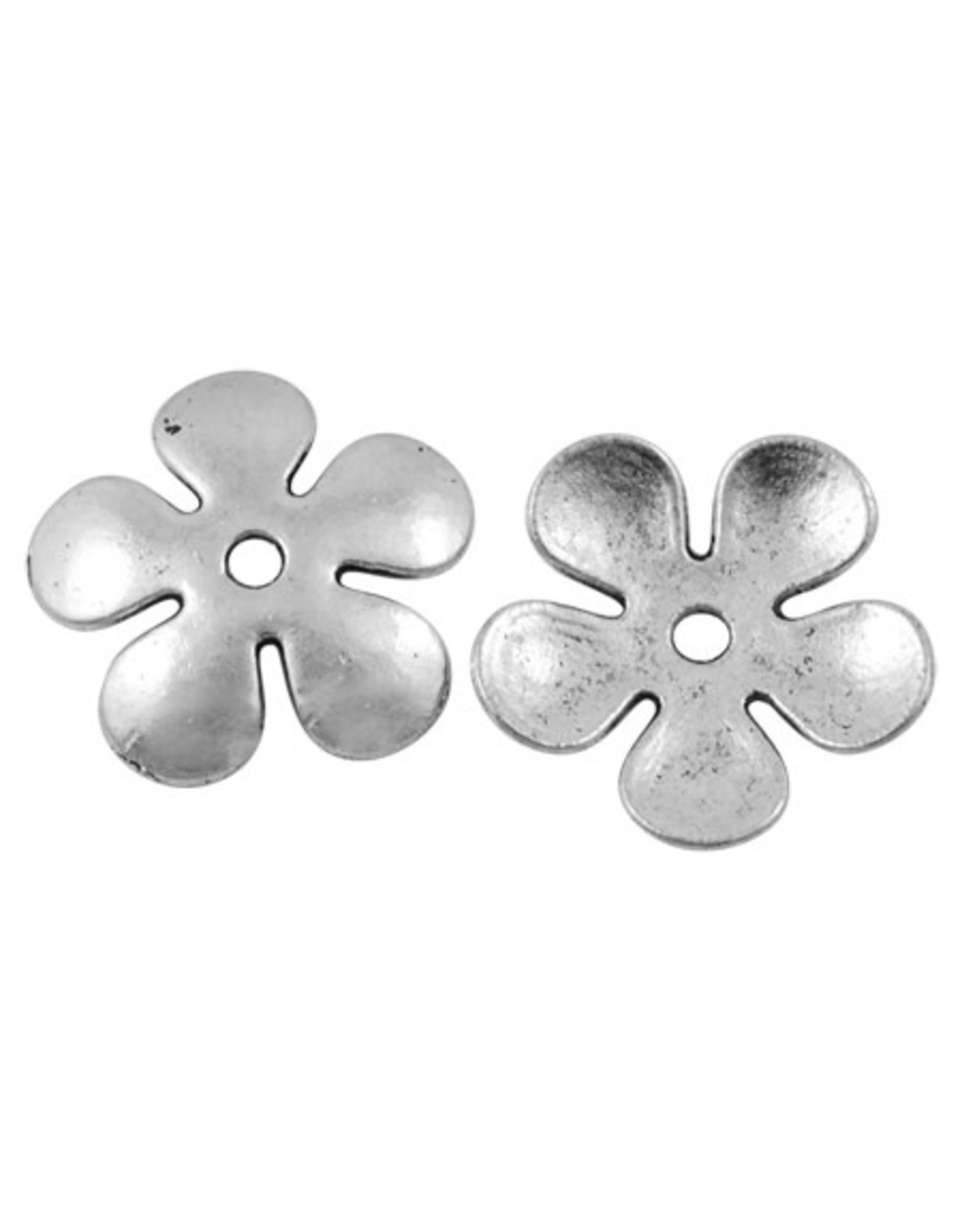 Flower Spacer Bead Antique Silver  21mm  x10m