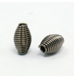 Coil Bead Gunmetal  9x6mm  x25