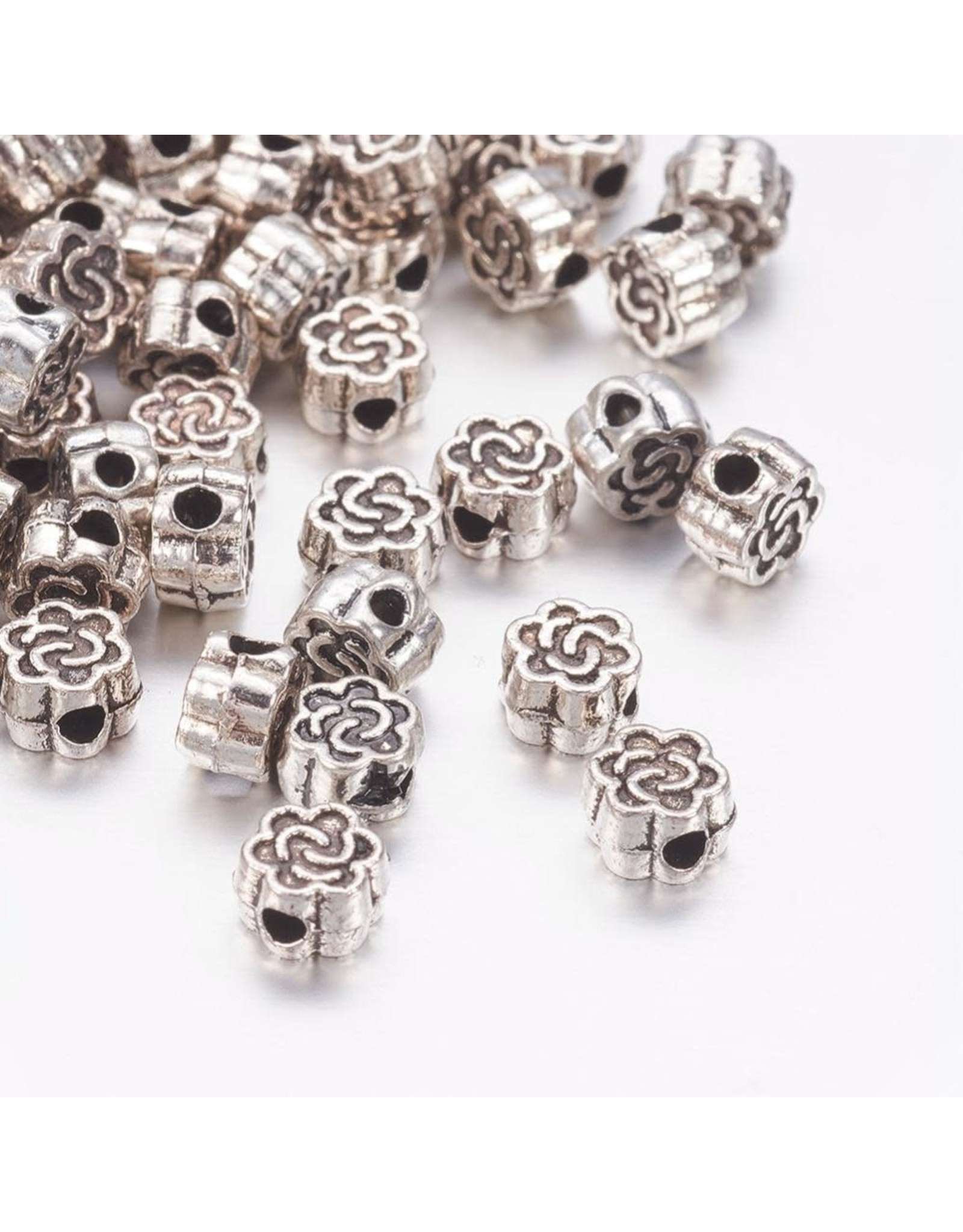 Celtic Knot Bead Antique Silver 4.5mm  x25