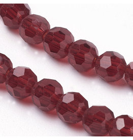 4mm Round Chinese Crystal x95 Transparent Dark Red
