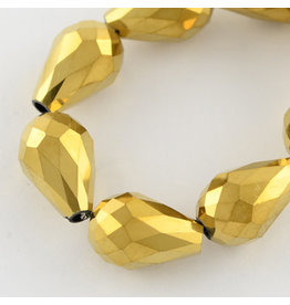 6x4mm Drop Chinese Crystal x70  Gold
