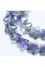 13mm Star Chinese Crystal   Purple  AB Strand X25