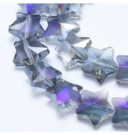 13mm Star Chinese Crystal   Purple  AB Strand X25