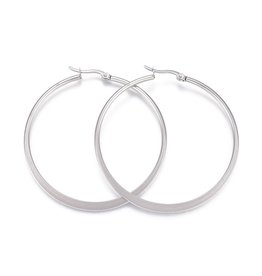 16x15x2mm Earring Hoops  Stainless Steel  x2