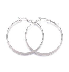 Hoop Earring 16x15x2mm   Stainless Steel  x1 Pair