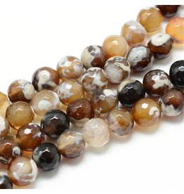 "Fire Agate 6mm Brown  15"" Strand  apprx 60 beads"