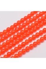 "Malaysia Jade Dyed 6mm Orange 15"" Strand approx X60"