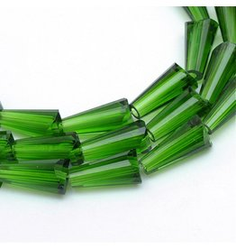 Cone 4x8mm Chinese Crystal Green  x72