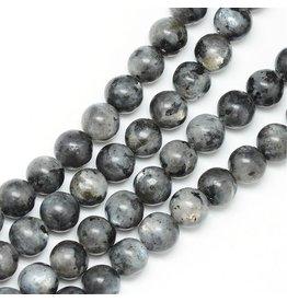 "Labradorite 8mm Black/Grey  15"" Strand  Approx  x46"