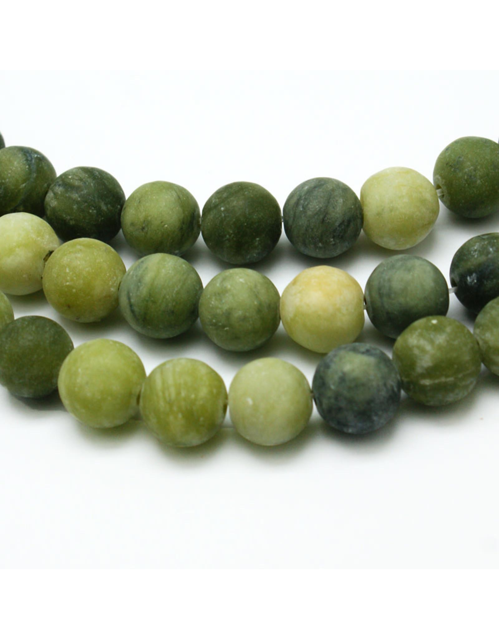 "Taiwan Jade Matte 8mm Green  15"" Strand  Approx  x46"