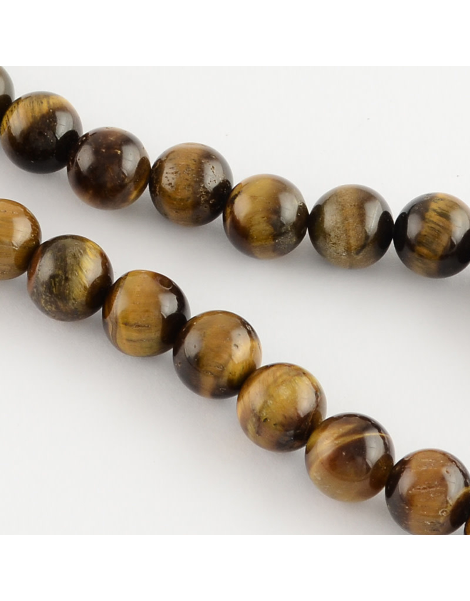 "Tiger Eye 8mm Brown  15"" Strand"