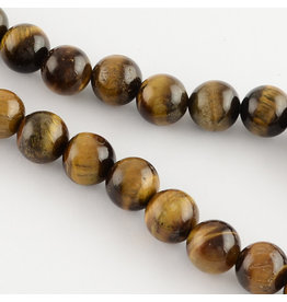"Tiger Eye 8mm Brown  15"" Strand  Approx  X46"