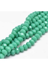 8x6mm Rondelle  Opaque Turquoise Blue x65