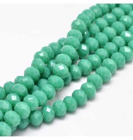 8x6mm Rondelle Chinese Crystal  x65  Opaque Turquoise Blue