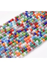 2x1mm Rondelle Chinese Crystal Mixed Colours x195