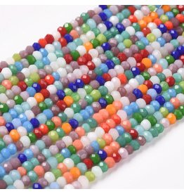2x1mm Rondelle Mixed Colours x195