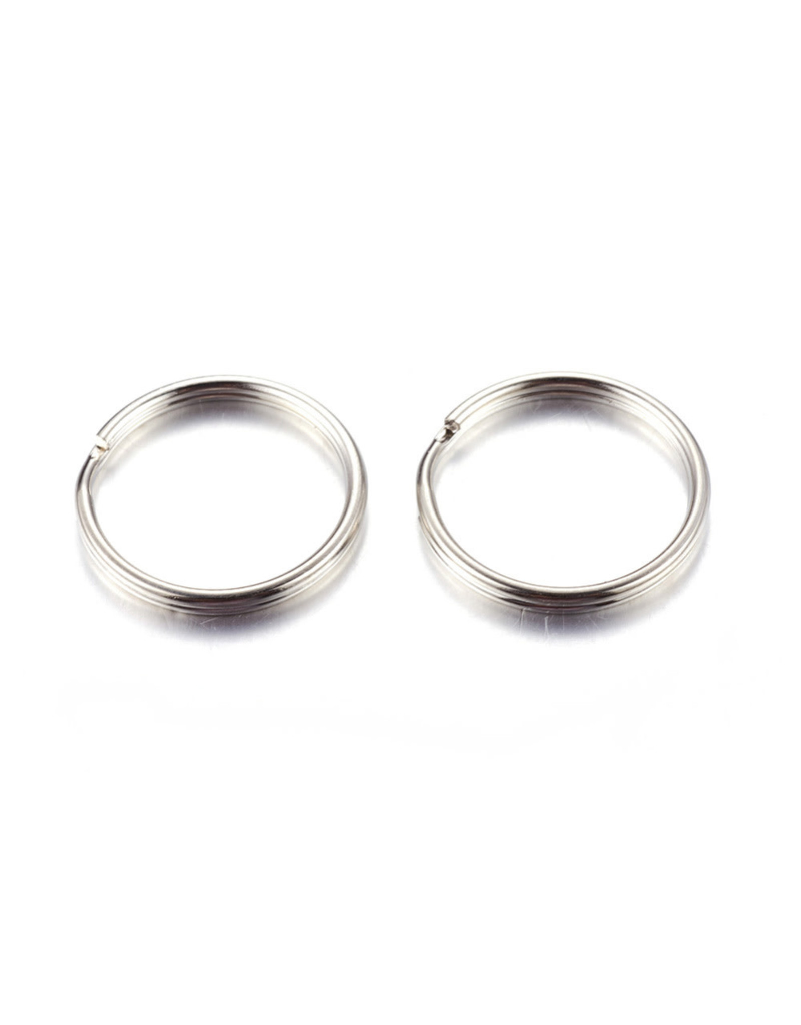 Key Ring 20mm Nickel Colour x100