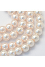 3mm Round Glass Pearl Pink  x195