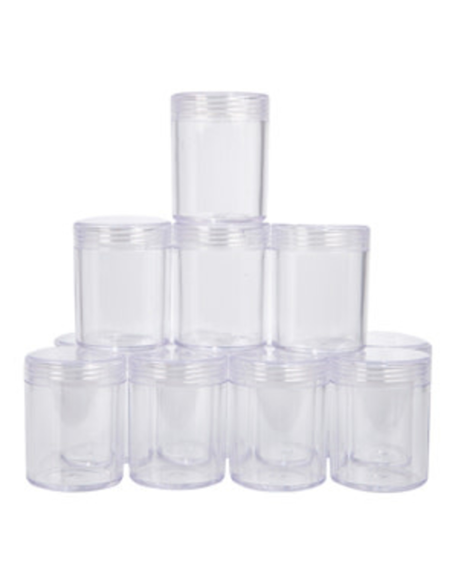 12 Clear Jar with Screw Lids  3.8x5cm in Box 15.9x12x5.3cm