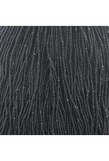 Czech 29309 13/0 Charlotte Cut   Seed Hank 12g Opaque Jet Black