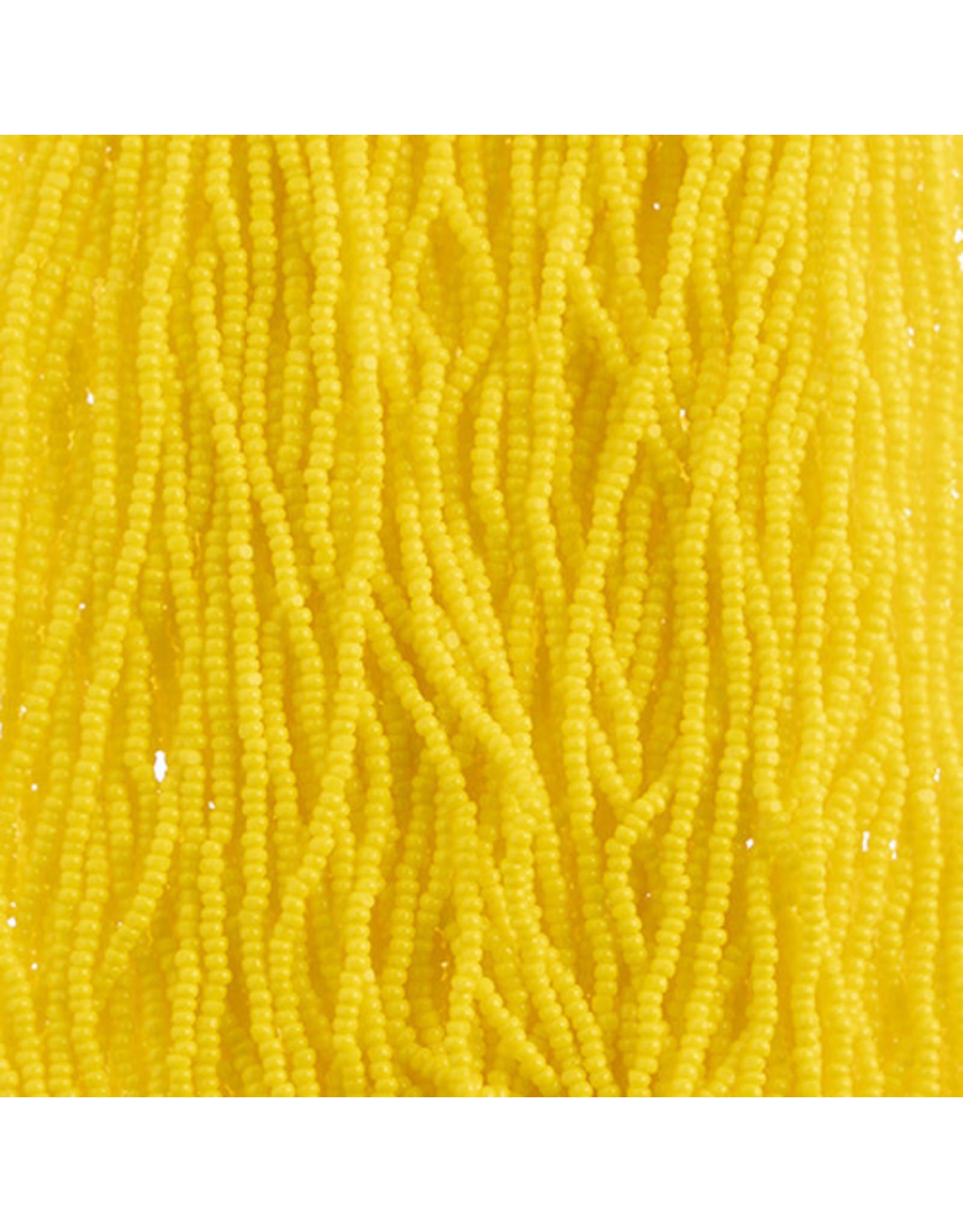 Czech 29309 13/0 Charlotte Cut   Seed Hank 12g Opaque Golden Yellow